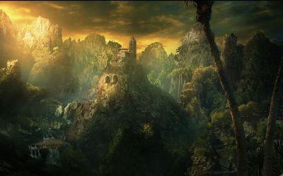 fantasy landscape wallpapers natural dark landscapes desktop cool hd gothic awesome temple