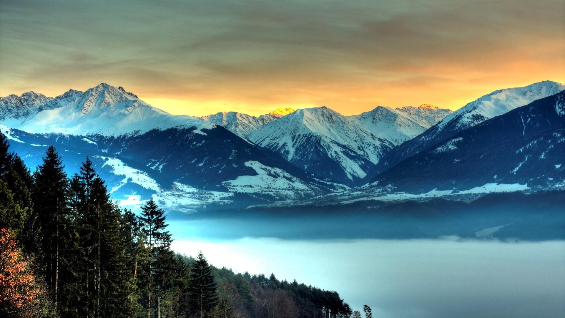 snowy mountains 27142 1920x1080px
