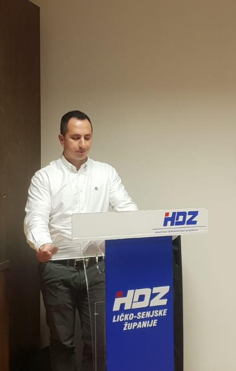 Tomislav Vrkljan izabran za predsjednika Gradske organizacije Mladeži HDZ-a Gospića