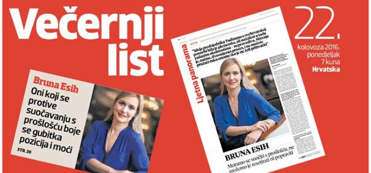 Bruna Esih – Intervju za Večernji list