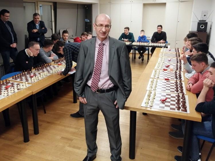 Međunarodni šahovski majstor Zdenko Jušić...