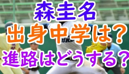森圭名(富山第一)出身中学や球速が凄い!プロ野球のドラフトか大学進学かも調査