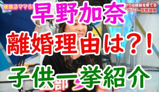 早野加奈と元旦那の離婚理由がヤバい!可愛い長女や子供(娘)たちの名前を調査!