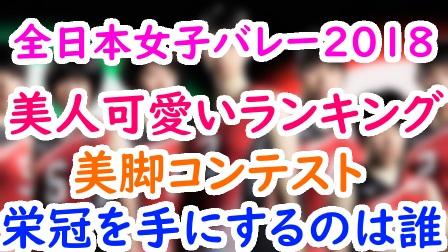 全日本女子バレー2018の美人かわいいランキング!美脚画像NO.1メンバーは誰?