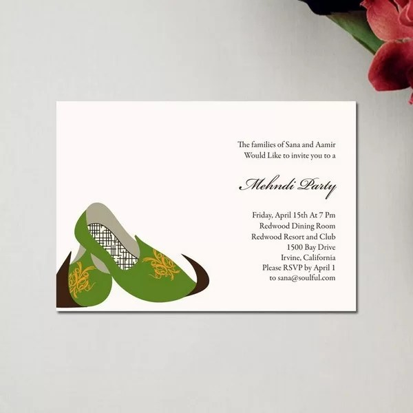 Mehndi Card Designs