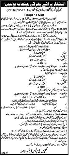 Punjab Police Recruitment 2016 Constable Male Female Jobs