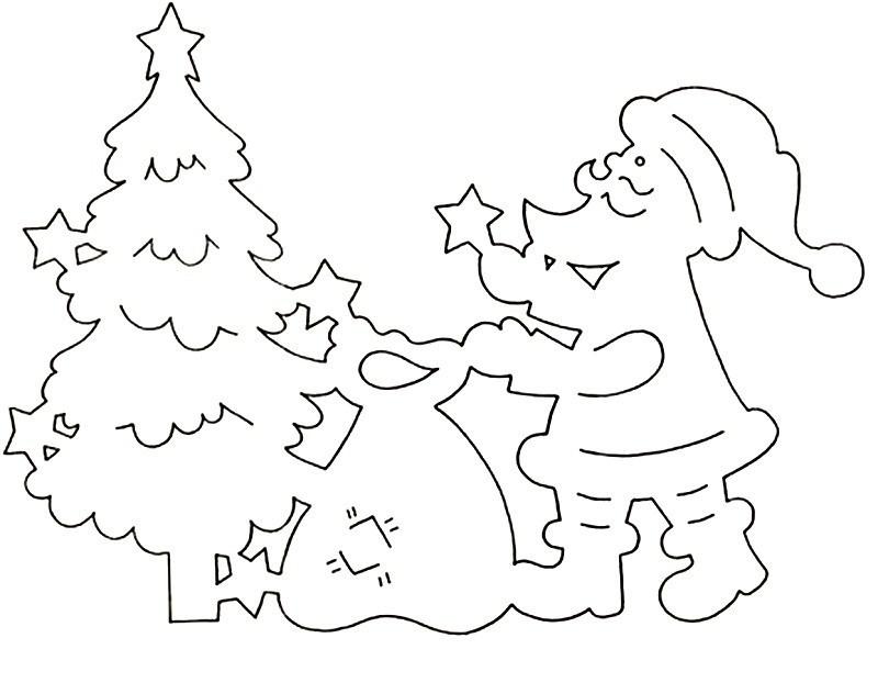 гостевом вырезные новогодние картинки шаблоны для окон статья для тех