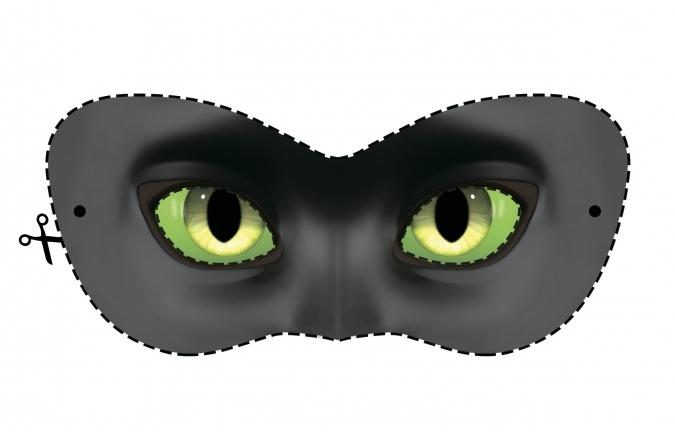 Маска супер-кота для карнавального костюма.