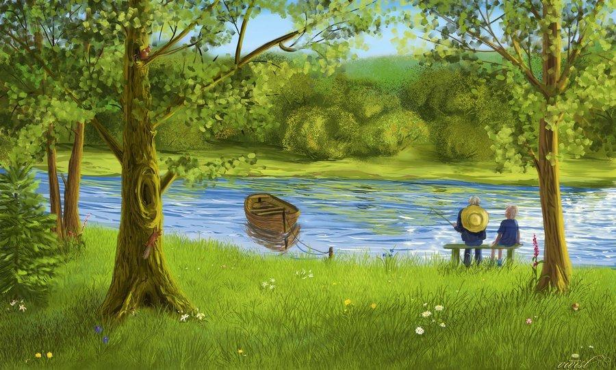Нарисовать картинку лето для детей
