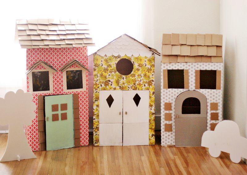 Hogyan készítsünk egy házat a babákra Csináld magad a kartonból: Scheme, fotó