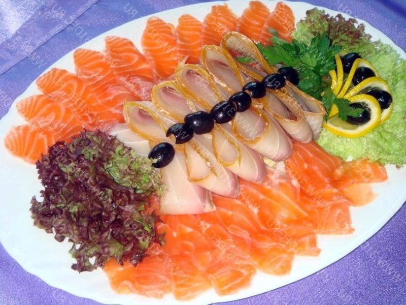Оформление блюда из рыбы