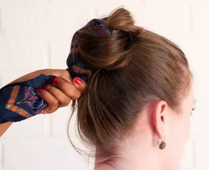 发型与手帕