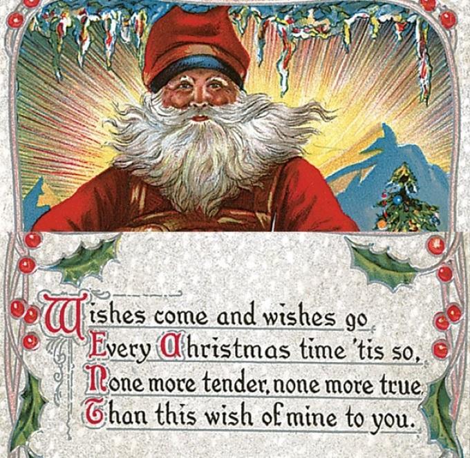 Открытка с пожеланием на английском на новый год и рождеством