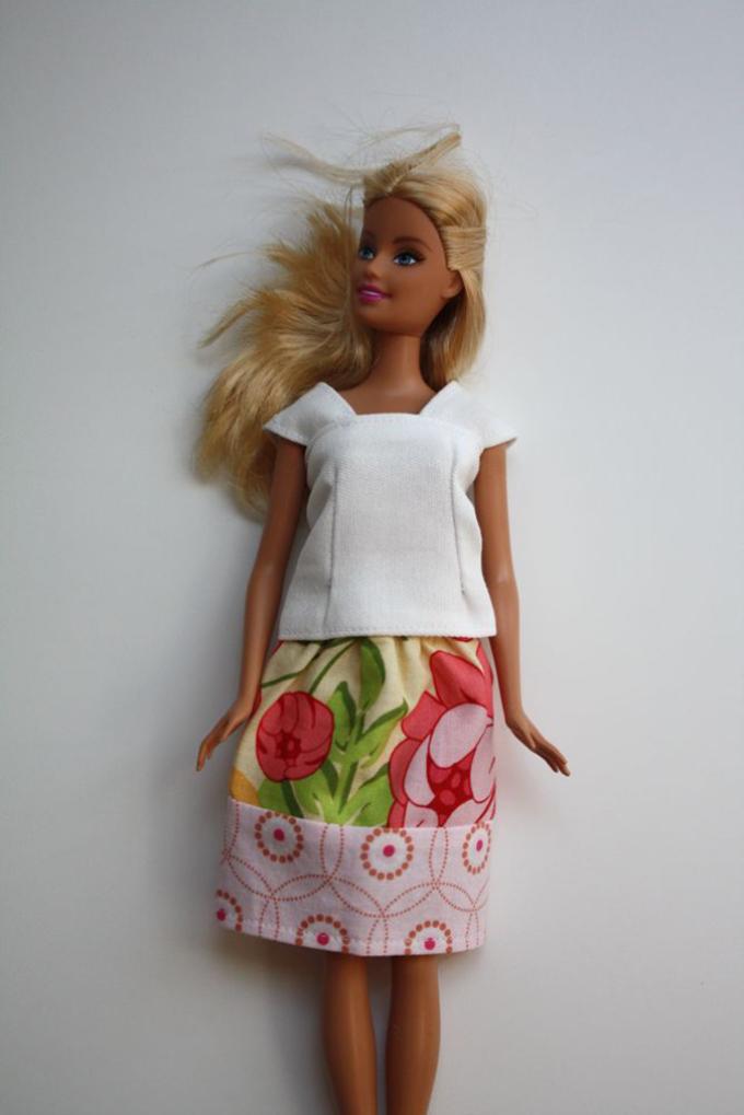 Барбиге арналған юбка.