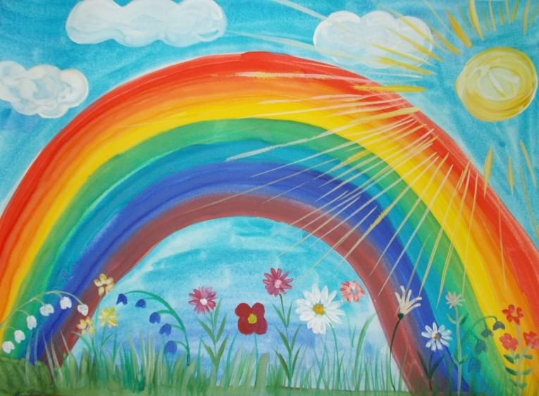 Картинки в форме радуги просто картинки роды радуги