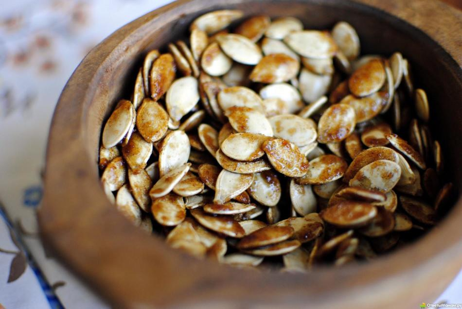 Recomendações para fritar sementes de abóbora com sal