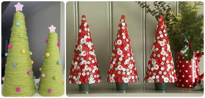 سه راه چگونگی ساخت مخروط کاغذی برای درخت کریسمس