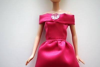 Вечернее платье для барби: шаг 11.