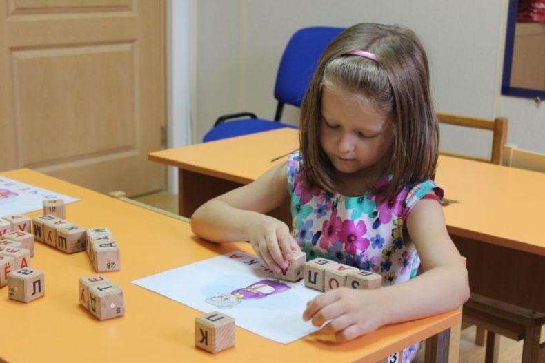 Обучение чтению при помощи кубиков