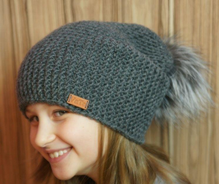 Chapéu de malha quente para uma menina, descrição 6