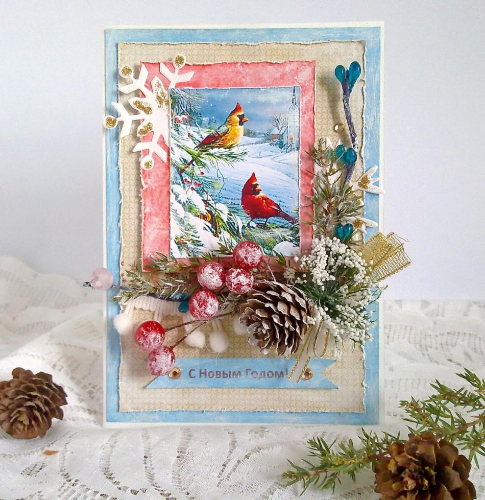 Скрапбукинг открытки на новый год идеи мастер-класс