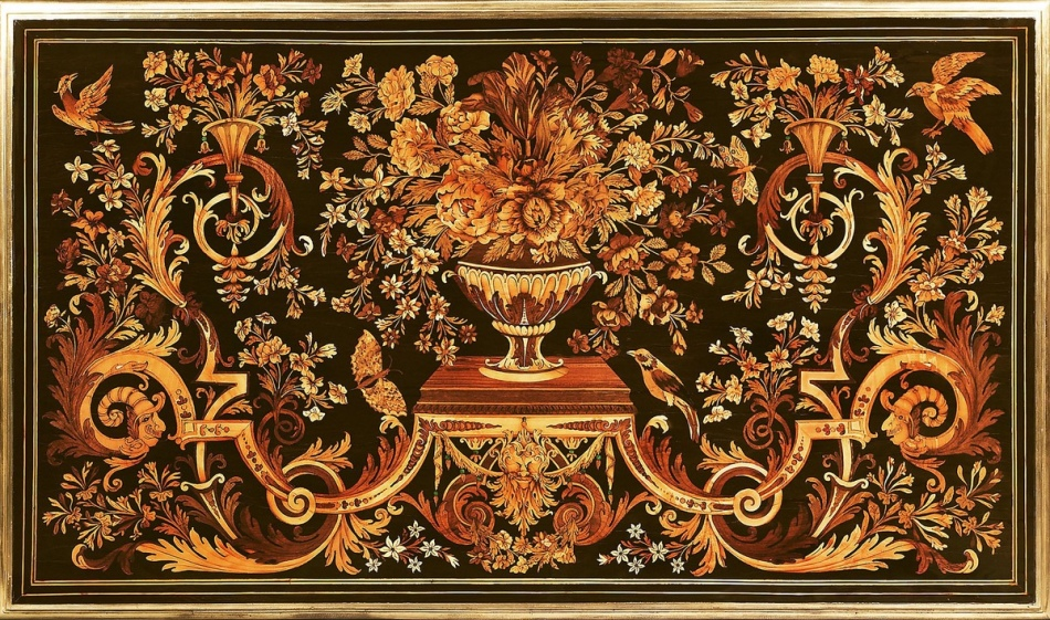 Marquetry.