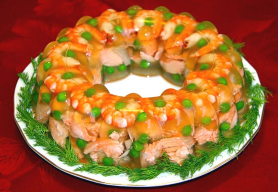 Cá từ cá và hải sản với gelatin.
