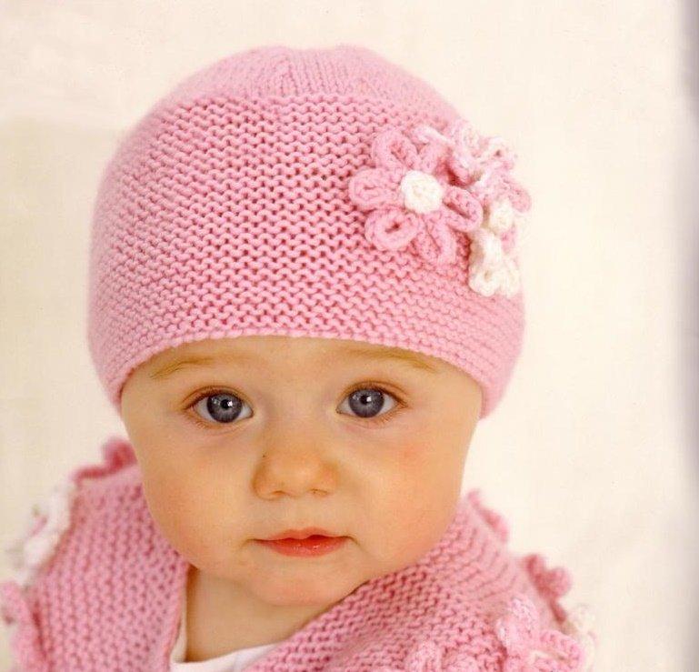 Chapéu de malha quente para uma menina, descrição 3