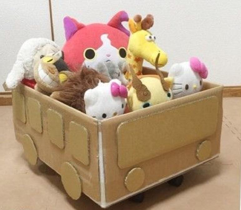 Ящик из картона для игрушек