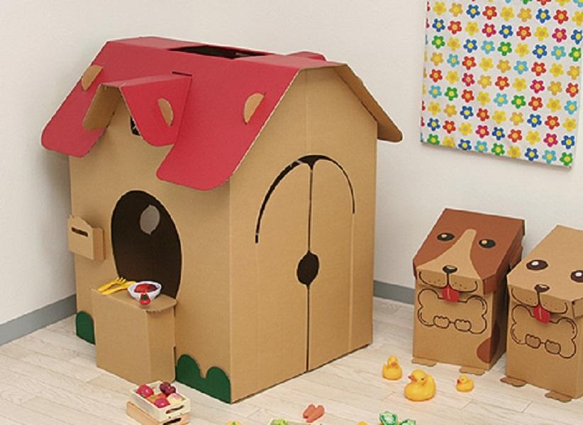 Домики из картона для собак