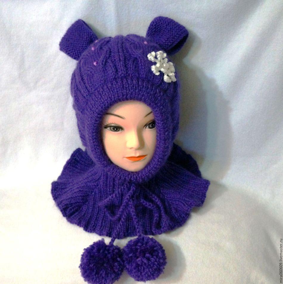 Chapéu de malha quente para uma menina, descrição 7