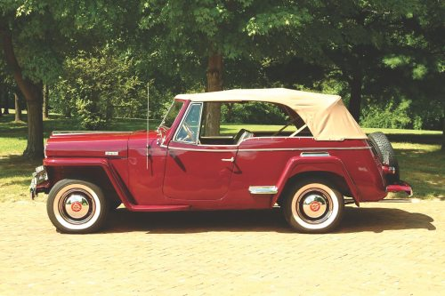 small resolution of the trademark square jeep fenders are present on the jeepster but the chrome plated step pads beltline trim and other brightwork were intended to add some