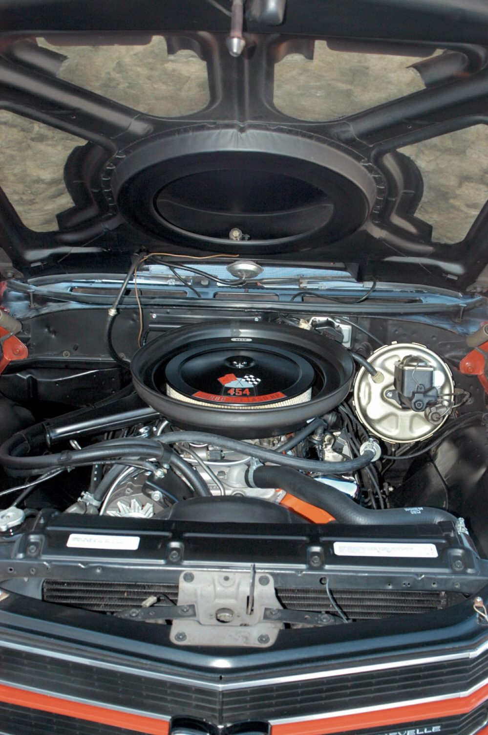 medium resolution of the 450 horsepower ls6 was the most powerful engine offered in 1970 the cowl induction system fed cold outside air to the big 780 cfm holley carburetor