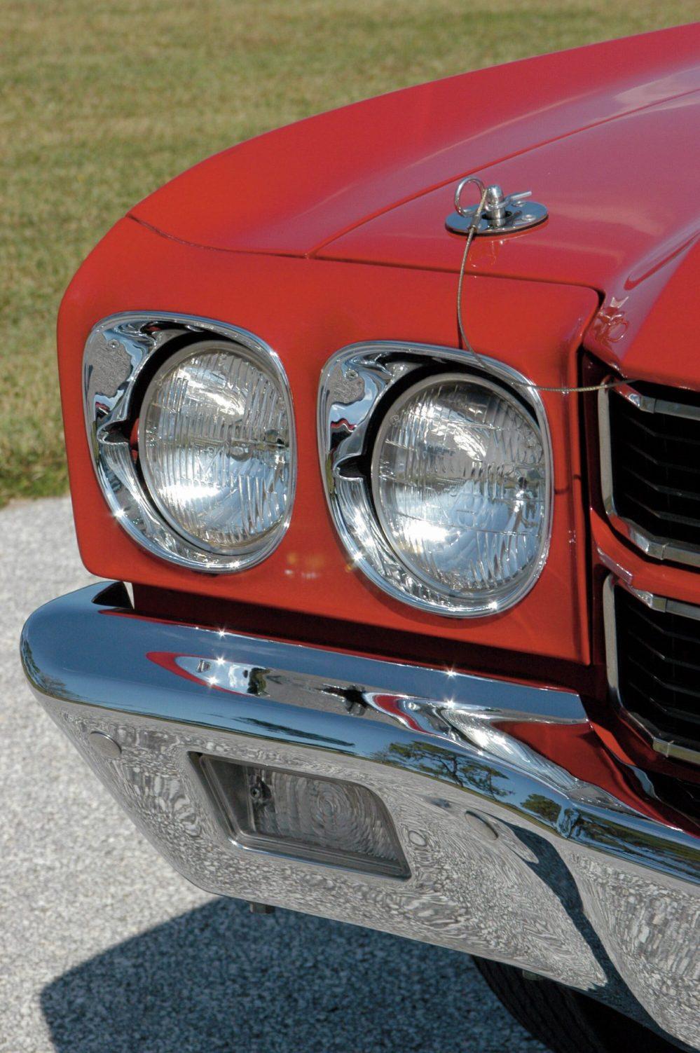 medium resolution of 1970 chevelle ls6 headlamp detail