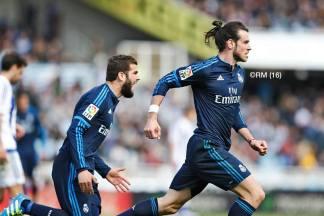 Bale celebrates his goal