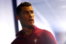 SAINT-ETIENNE, FRANCE - JUNE 14: Cristiano Ronaldo of Portugal is seen in the tunnel prior to the UEFA EURO 2016 Group F match between Portugal and Iceland at Stade Geoffroy-Guichard on June 14, 2016 in Saint-Etienne, France. (Photo by Simon Hofmann - UEFA/UEFA via Getty Images)