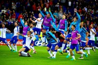 LYON, FRANCE - JUNE 13 : Italy team celebrates during the UEFA EURO 2016 match group E between Belgium and Italy at the Stade de Lyon on June 13, 2016 in Bordeaux, France , 13/06/2016 ( Photo by Vincent Kalut / Photonews via Getty Images)