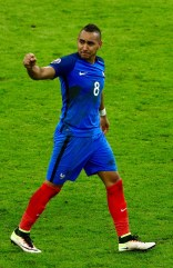 PARIS, FRANCE - JUNE 10: Dimitri Payet of France celebrates scoring his team's second goal during the UEFA Euro 2016 Group A match between France and Romania at Stade de France on June 10, 2016 in Paris, France. (Photo by Paul Gilham/Getty Images)