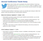 AMWA Page with Tweet Away Contest Information