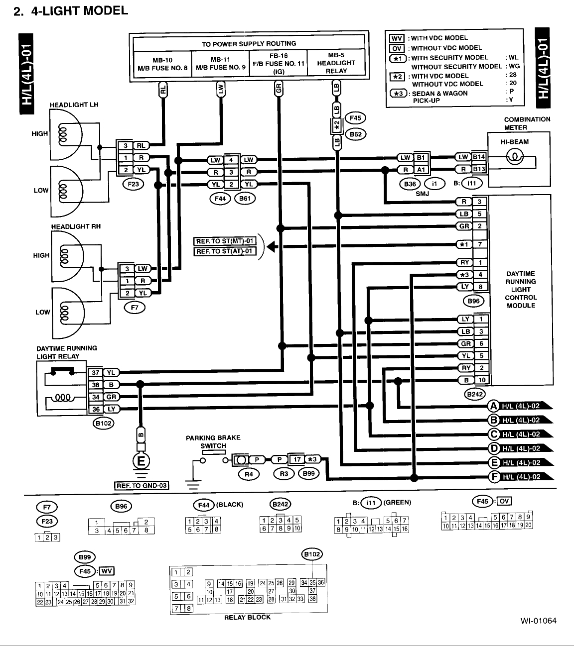 Autosportswiring: 2005 Subaru Outback Headlight Wiring Diagram
