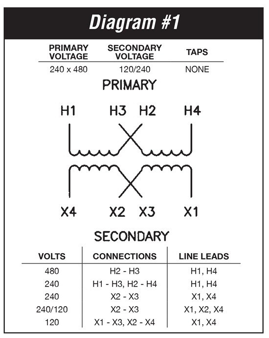240 Single Phase Wiring Diagram