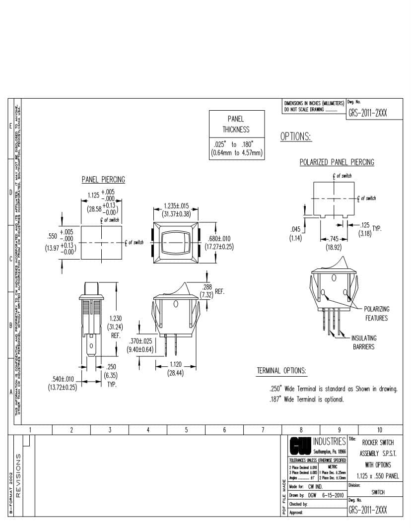 Carling Technologies Rocker Switch Wiring Diagram Gallery