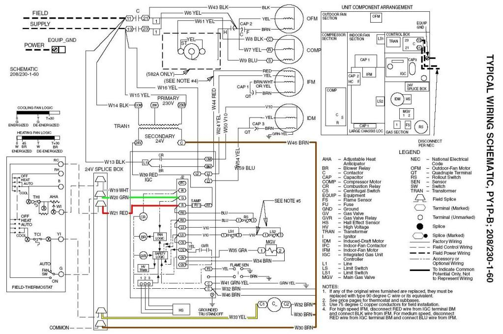 carrier furnace wiring schematic