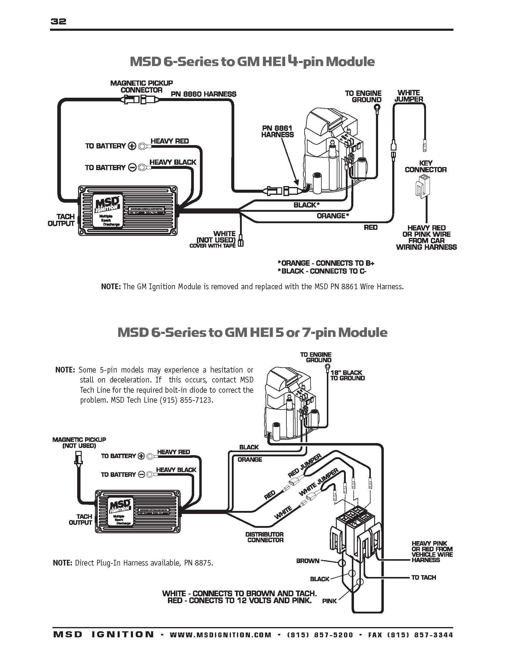 msd 6a wiring diagram gm hei 1986 nissan pickup stereo 6al part number 6420 gallery