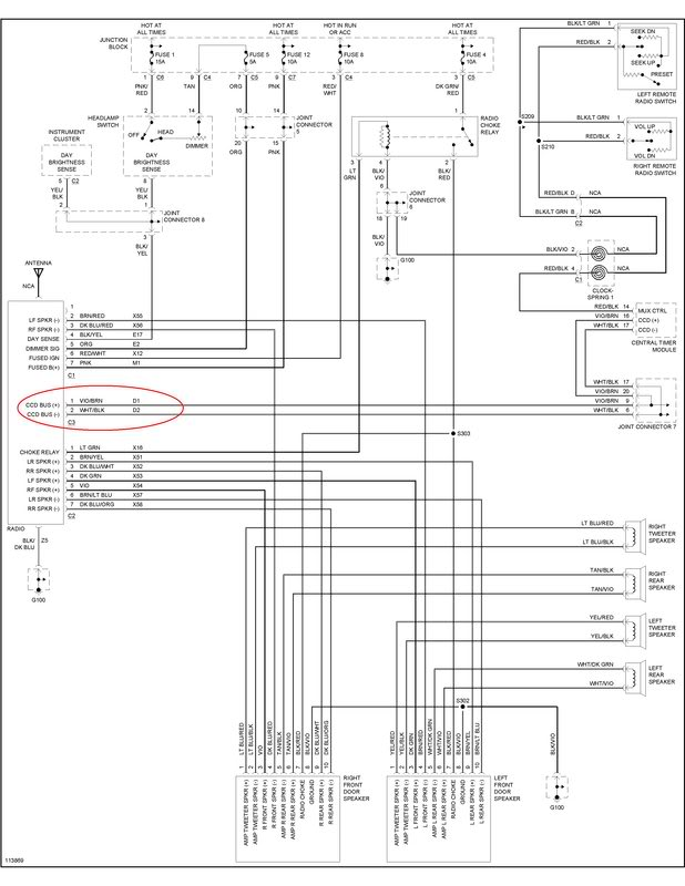 2002 Chrysler Town And Country Radio Wiring Diagram