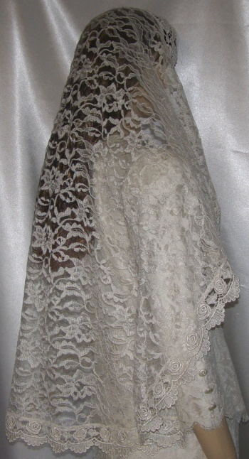 Bridal Veils Headcoverings  Bridal Mantilla Head Coverings