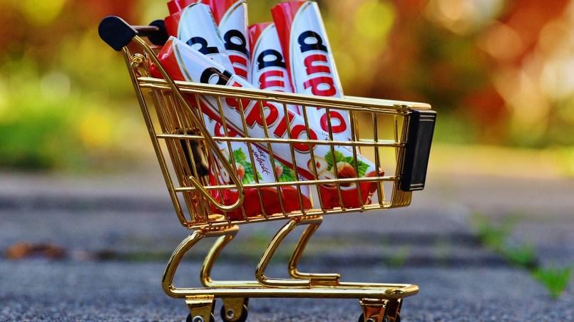 wybudujmy kolejny supermarket - wózek z duplo