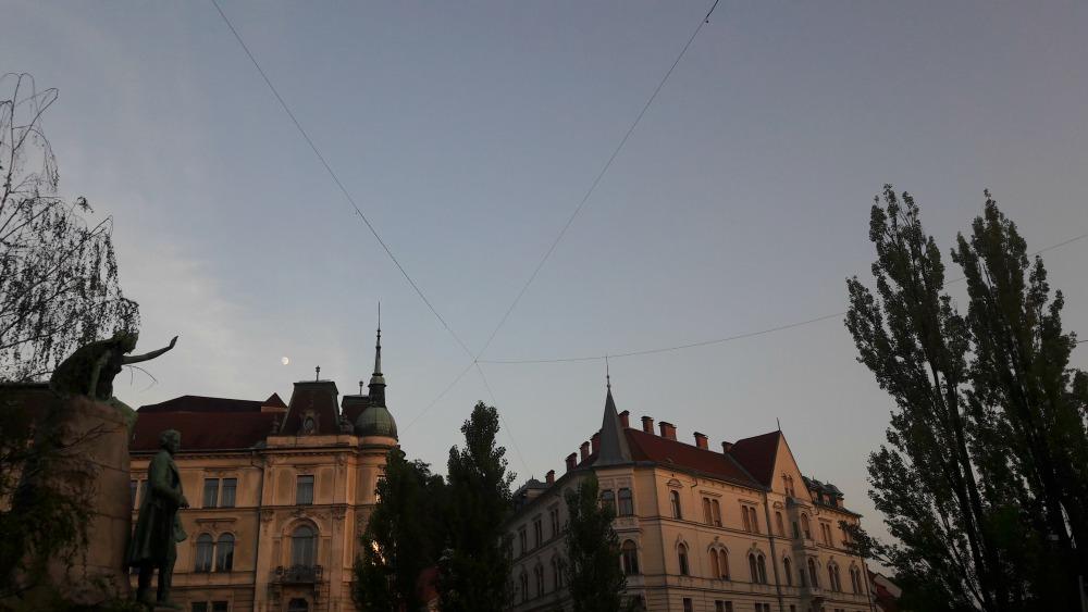 natrysk wodny w Lublanie w Słowenii