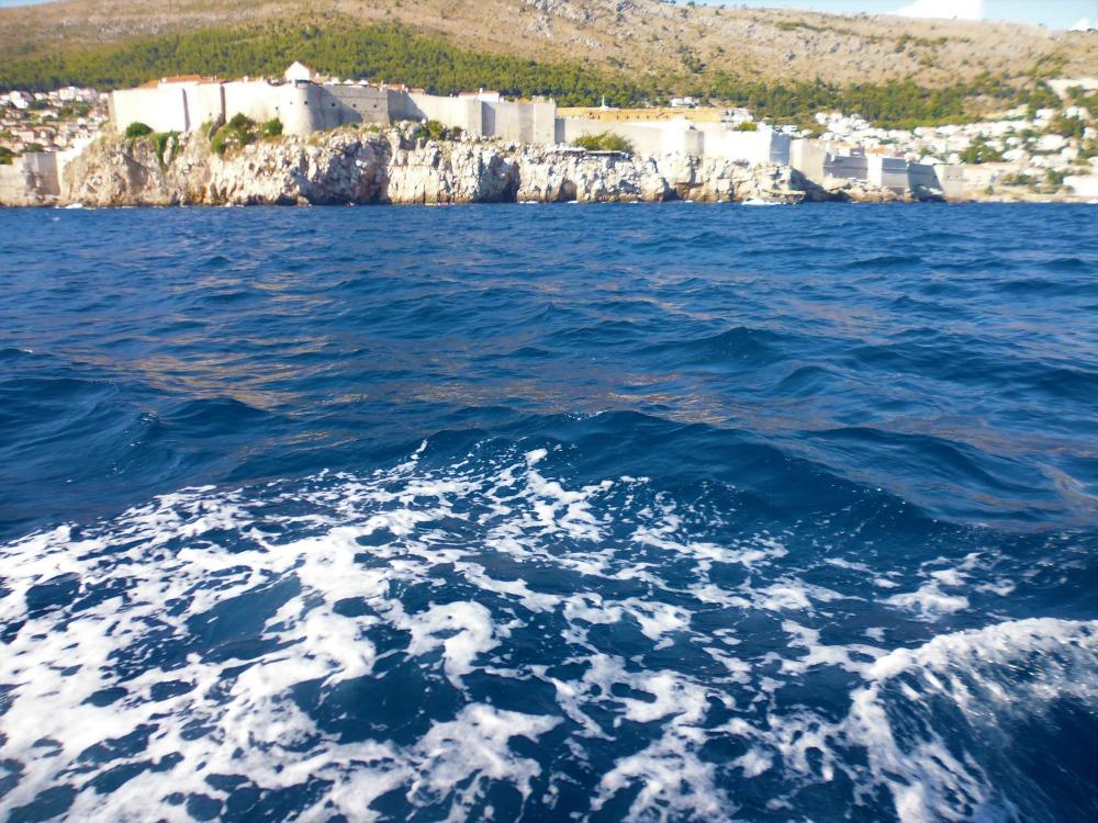 wycieczka do Dubrownika w Chorwacji - widok z łodzi