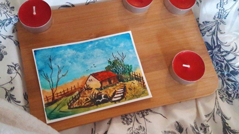 3 bohaterów książkowych z którymi chciałabym spędzić dzień - domek namalowany akwarelami